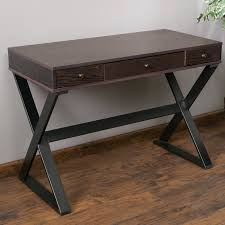 writing desk with drawers home loft concepts beverly writing desk with 3 drawers reviews