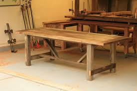 reclaimed wood outdoor table arbor exchange reclaimed wood furniture weathered outdoor table