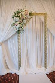 wedding backdrop frame wedding ceremony frame and floral backdrop created by akiko floral