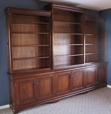 custom cherry bookcase wall unit amish handcrafted custom unit