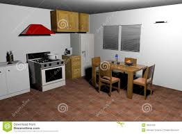 old style kitchen 3d rendering royalty free stock images image