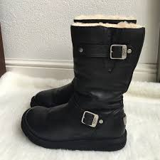 womens kensington ugg boots sale ugg ugg kensington black leather boots size 8 from alexandra s