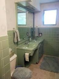 vintage green tile bathroom when we finally decided to keep it