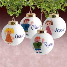 customized ornaments with name on front and date on back
