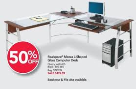 Office Depot Glass Computer Desk Office Depot And Officemax Black Friday Realspace Mezza L Shaped