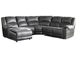 ashley signature design nantahala faux leather reclining sectional