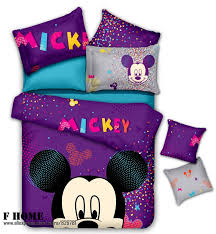 Mickey Mouse Bed Sets Pink And Mickey Mouse Minnie Mouse Cotton Comforter Sets