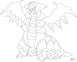 giratina in altered form coloring page free printable coloring pages