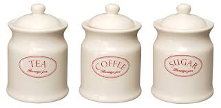 Ceramic Kitchen Canisters Sets by Decorative Ceramic Kitchen Canisters Tea Coffee Sugar Biscuit