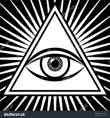 vector illustration of a third eye mystical sign the eye of shiva
