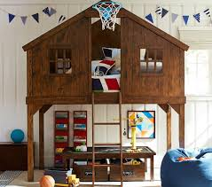 Tree House Fort Bunk Bed Inspiration Pennant Flags Lego Table And - Treehouse bunk beds