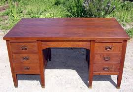 Vintage Office Desk Voorhees Craftsman Mission Oak Furniture Antique L J G