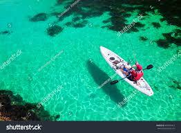 man fishing on kayak sea clear stock photo 461891413 shutterstock