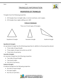 4 Types Of Sentences Worksheet Geometry Formulas Triangles