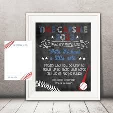 baseball time capsule sign and note cards 1st birthday diy