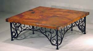Tuscan Coffee Table World Design Tuscan Style Rustic Copper Coffee Tables