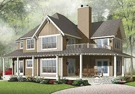 Cottage House Plans With Wrap Around Porch House Plan W2837a V1 Detail From Drummondhouseplans Com