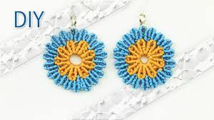 school earrings diy macramé flower earrings tutorial