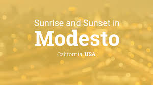 sunrise and sunset times in modesto