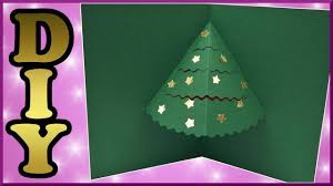 diy xmas pop up card papier weihnachtskarte mit tannenbaum