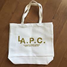 apc woven heavyweight fabric canvas tote bag nwot lapc eco