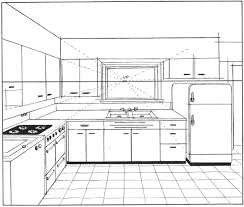 Interior Kitchens One Point Perspective Interior Kitchen Minimalist Rbservis Com
