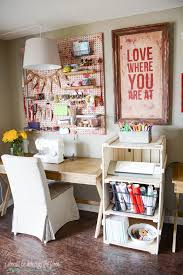 Home Craft Room Ideas - i should be mopping the floor vintage craft room organization