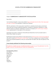 Sponsorship Cover Letter Template by Cover Letter Samples For Your Scientific Manuscript Formalities