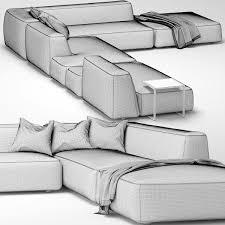 3d lemamobili cloud sofa 6 cgtrader