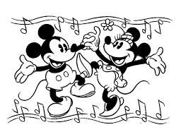 76 mickey mouse u0026 minnie coloring pages images