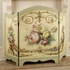 decorative fireplace victorian fireplace screen roses antique