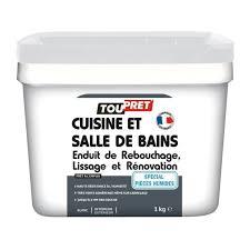 enduit cuisine lessivable toupret enduit rénovation cuisine et salle de bains 1 kg achat