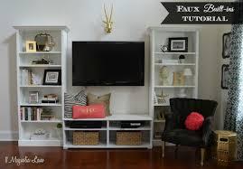 livingroom shelves faux built in living room shelves tutorial hometalk