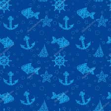 blue pattern background html marine seamless texture blue background set fish anchor helm