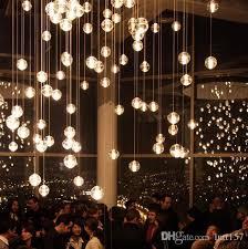 Ball Chandelier Lights Discount Simple Post Modern Crystal Glass Ball Chandelier Art