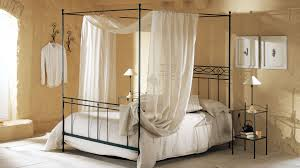 Wall Canopy Bed by Black Iron Bed Frame With Canopy Combinatin With Black Stained