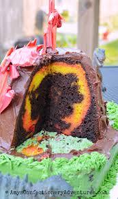 amy u0027s confectionery adventures erupting volcano cake
