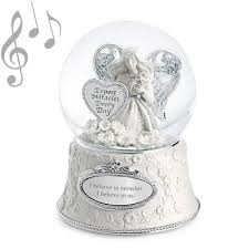 baptism snow globes musical water globes shopswell