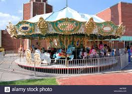 small town carnival merry go stock photo royalty free image