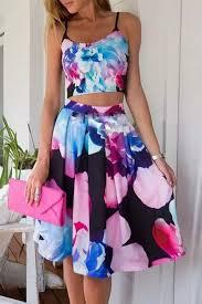 matching set floral print cami top matching set oasap