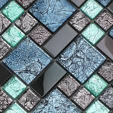 mosaic tile designs crystal glass tile backsplash black stainless steel with base meta