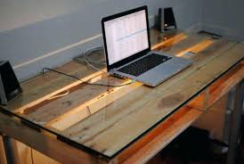 wood desk with glass top glass and wood desk manlio info