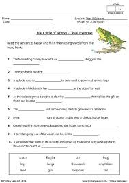 primaryleap co uk life cycle of a frog cloze exercise worksheet
