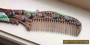 vintage comb nouveau copper vintage peacock hair comb for sale in australia