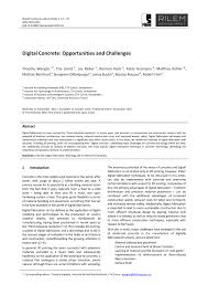 Concrete Sting Cost Estimate by Digital Concrete Opportunities And Challenges Pdf