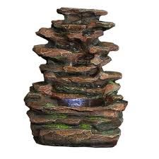 Water Fountain Home Decor Amazon Com Sunnydaze Soothing Rock Falls Tabletop Fountain With