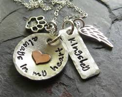 pet memorial necklace pet memorial personalized sted dog remembrance