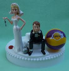 and chain cake topper wedding cake topper los angeles lakers la basketball themed