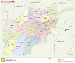 afghanistan administrative and political map includes surrounding