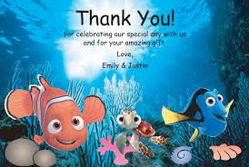 finding nemo printable thank you card